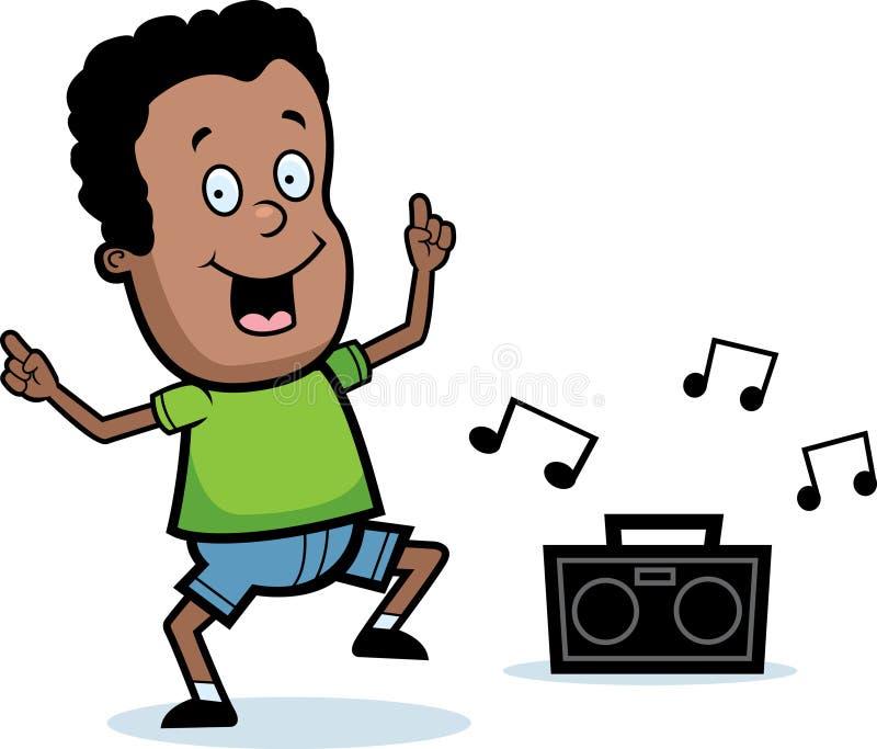 chłopiec taniec royalty ilustracja
