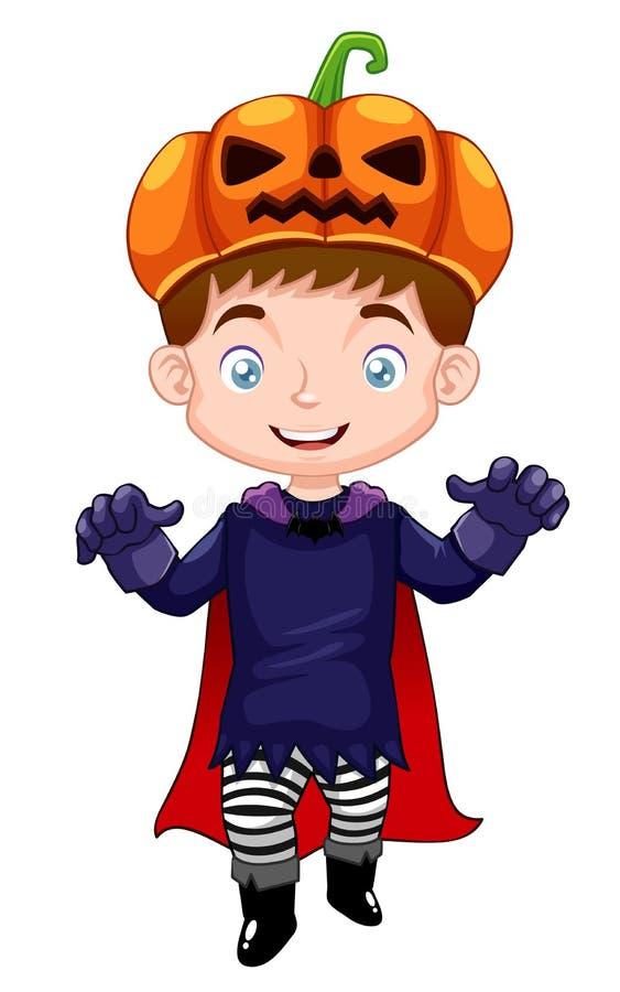 Chłopiec target291_0_ Halloween ilustracji