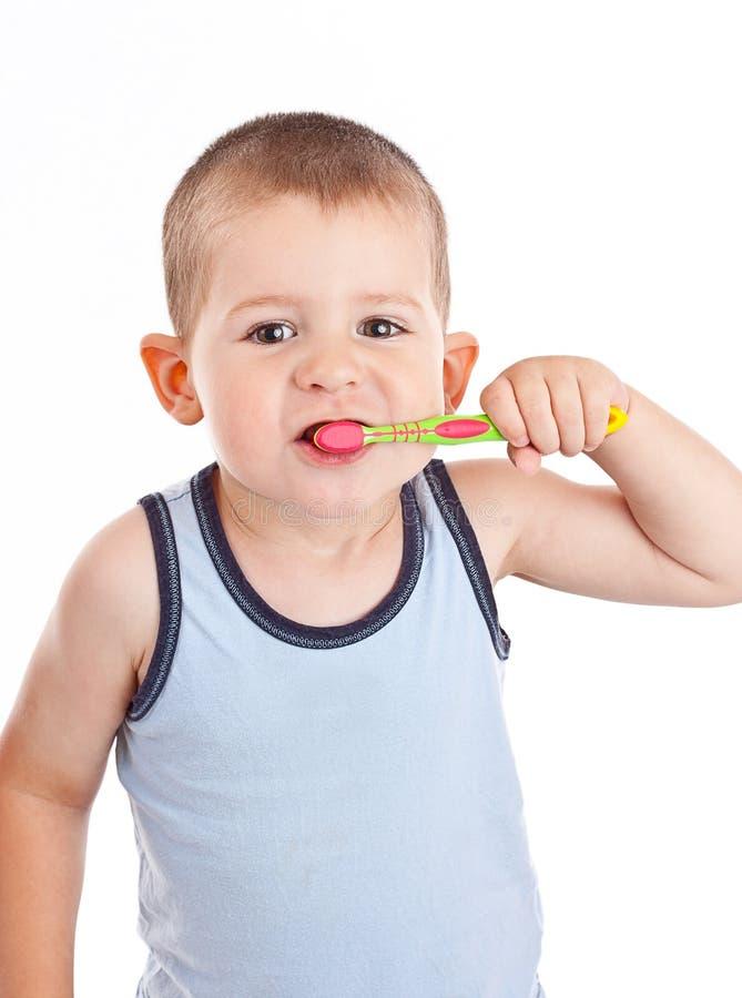chłopiec target809_0_ jego zęby zdjęcia stock