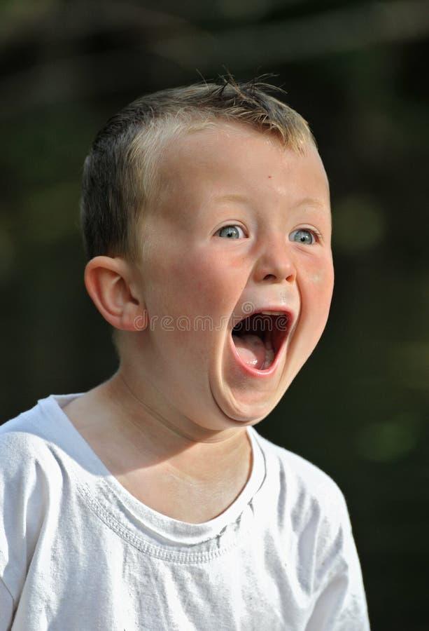 chłopiec trochę przerażał fotografia stock