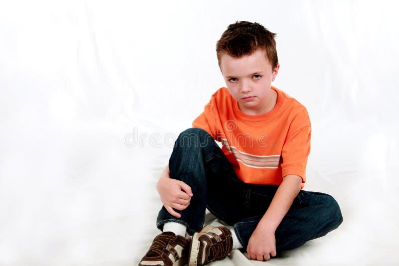 chłopiec trochę smutna obraz royalty free
