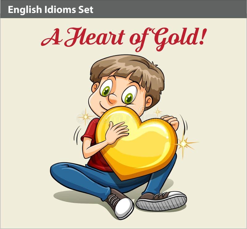 Chłopiec trzyma serce ilustracja wektor