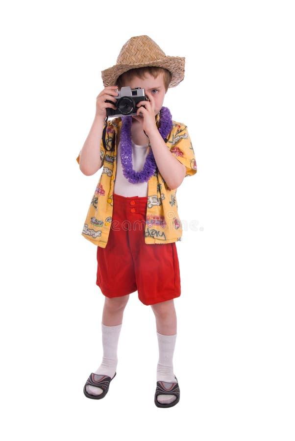 Chłopiec turysta zdjęcia royalty free