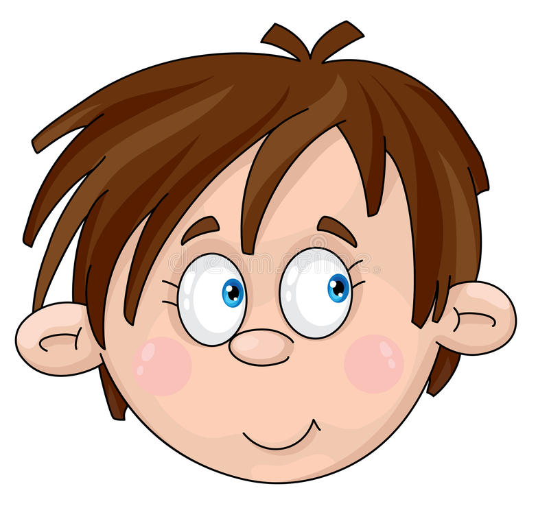 chłopiec twarz royalty ilustracja