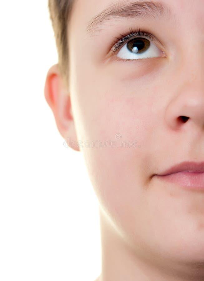 chłopiec twarzy połówka zdjęcia stock