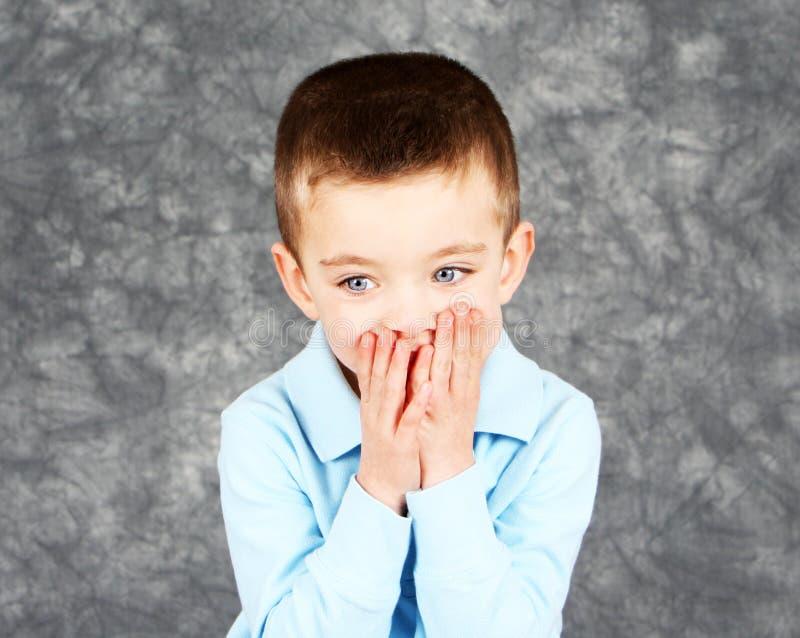 chłopiec twarzy ręki target286_0_ potomstwa obraz royalty free