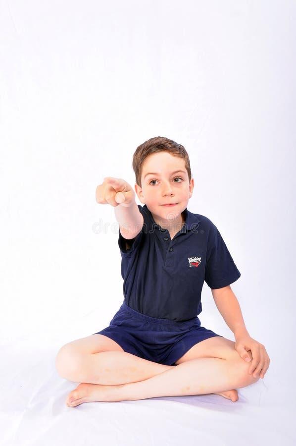 chłopiec twarzy robienie zdjęcia stock