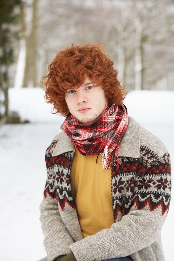 chłopiec ubrań nastoletnia target2123_0_ zima obrazy royalty free
