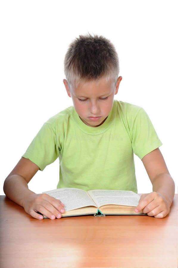 chłopiec uczenie potomstwa zdjęcie royalty free