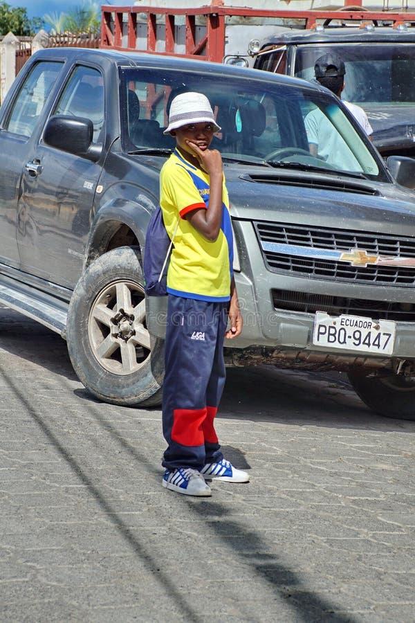 Chłopiec ulica obraz royalty free