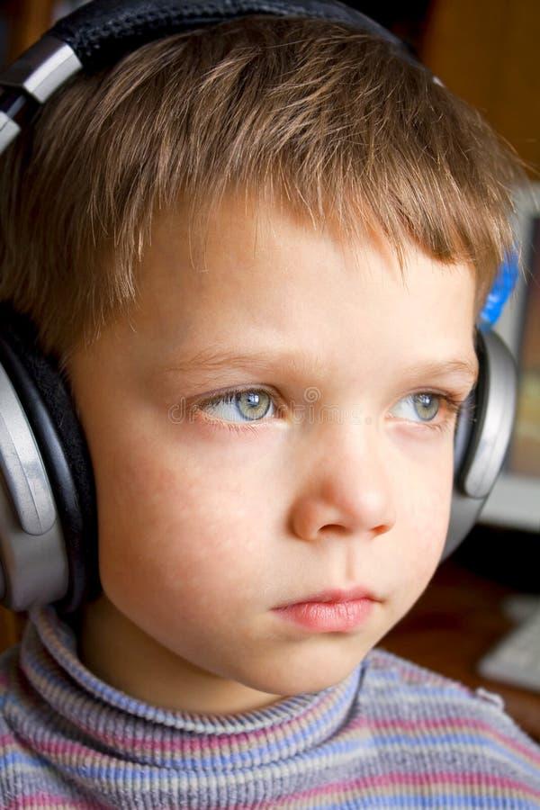 chłopiec uszaci mali telefony fotografia royalty free