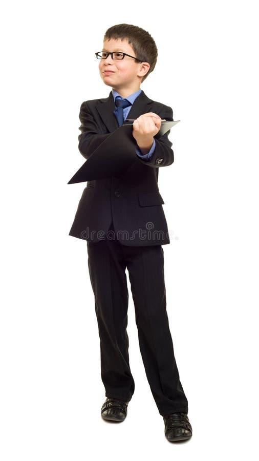 Chłopiec w kostiumu przedstawienia pustego miejsca schowku zdjęcia royalty free