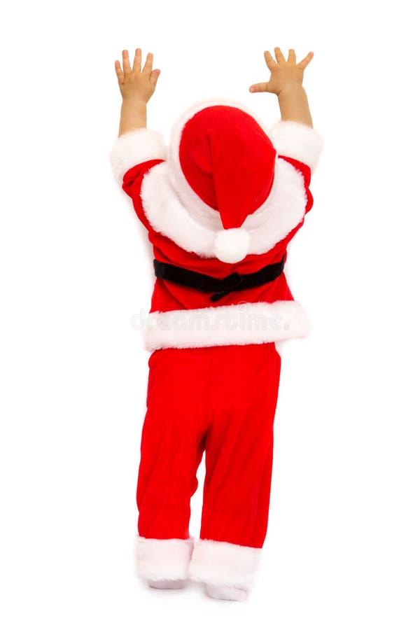 Chłopiec w wizerunku Santa obrazy royalty free