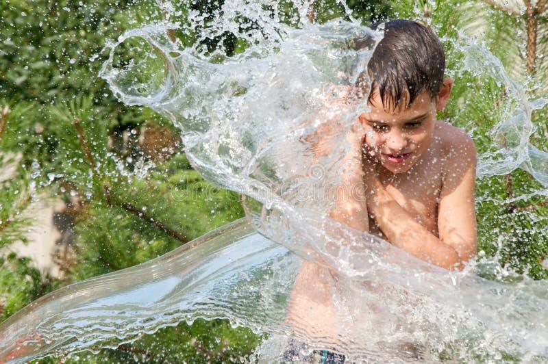 chłopiec woda obrazy stock