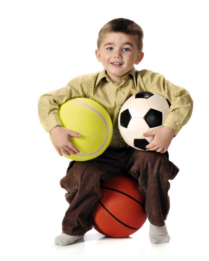 chłopiec wszystkie sport zdjęcia royalty free