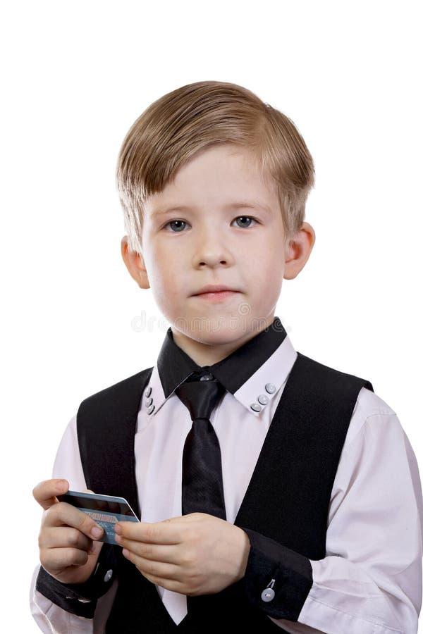 Dziecko sztuka jest bankowem sprzedawca nabywca obraz stock