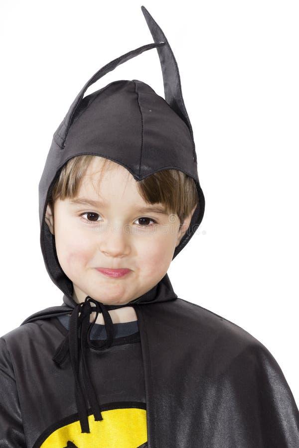 Chłopiec z karnawałowym kostiumem. zdjęcie royalty free
