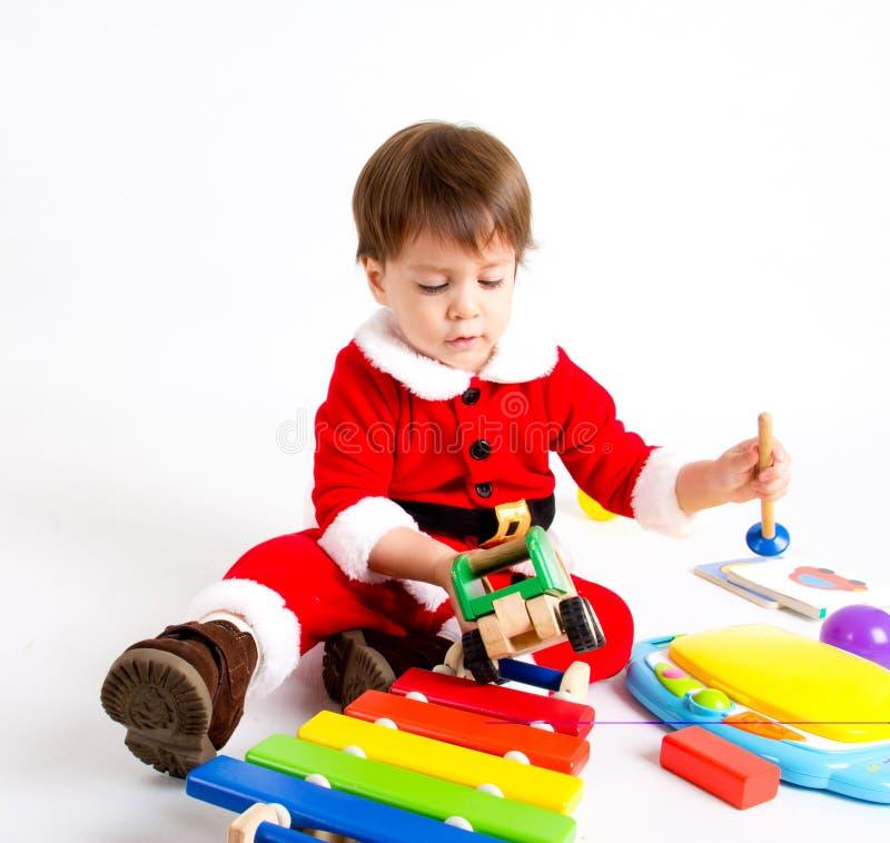 Chłopiec z Santa kostiumem obraz royalty free