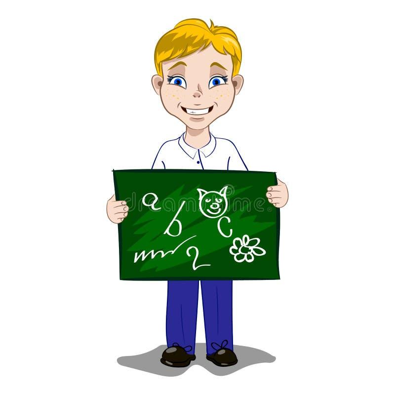 Chłopiec z zarządem szkoły ilustracji