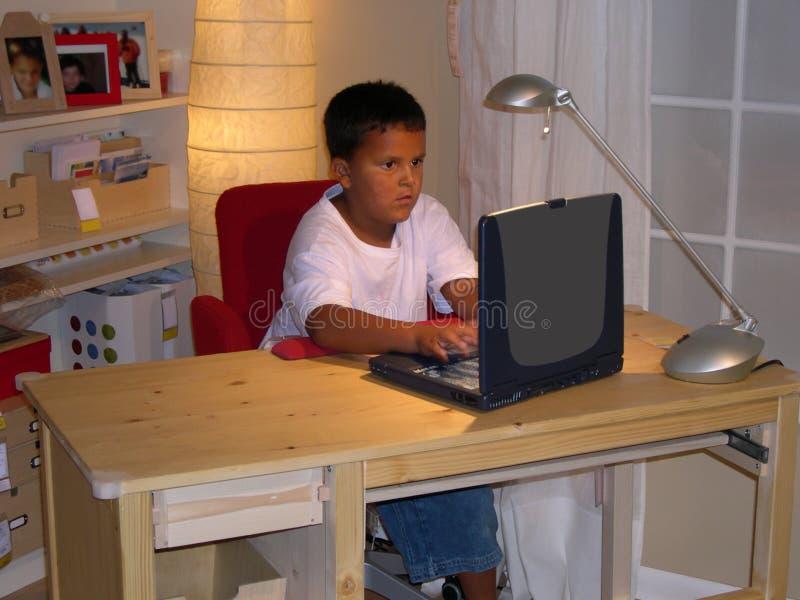 chłopiec zadanie domowe obraz stock
