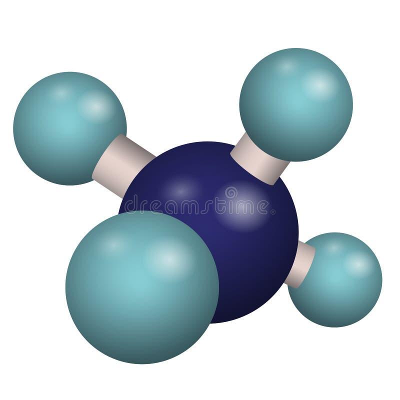 CH4 молекулы модели 3D иллюстрация штока
