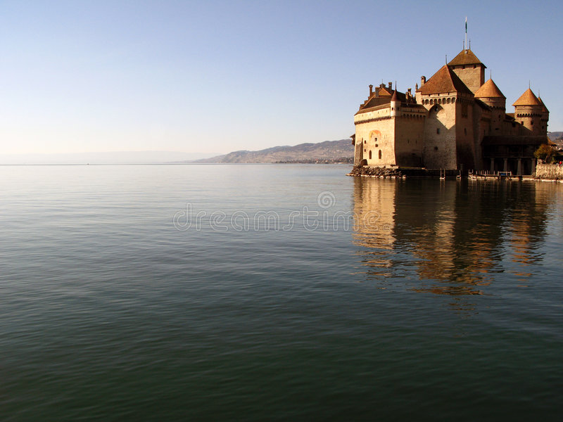 ch 2 zamek chillon Montreux obraz stock