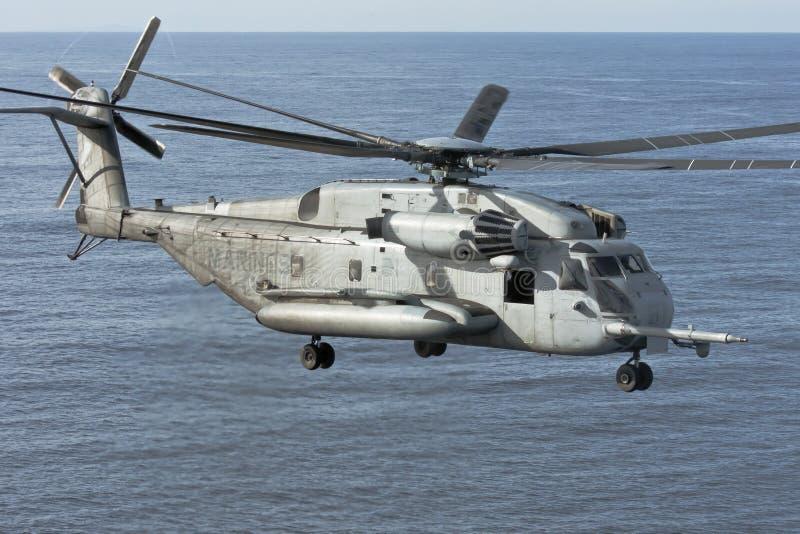 CH-53E de Helikopter van de marine stock foto's