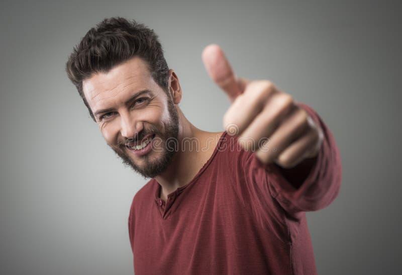 Download Chłodno facet aprobaty zdjęcie stock. Obraz złożonej z positivity - 53786776