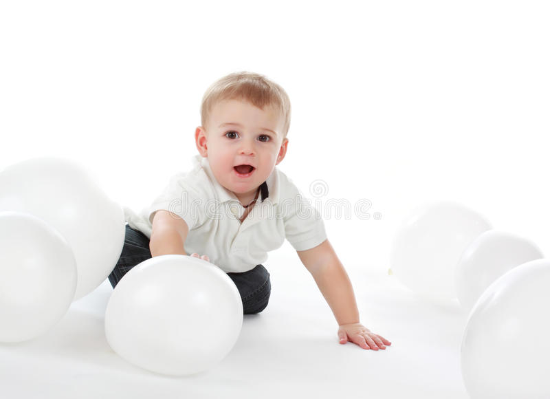 Download Chłopiec obraz stock. Obraz złożonej z berbeć, biały - 13343071