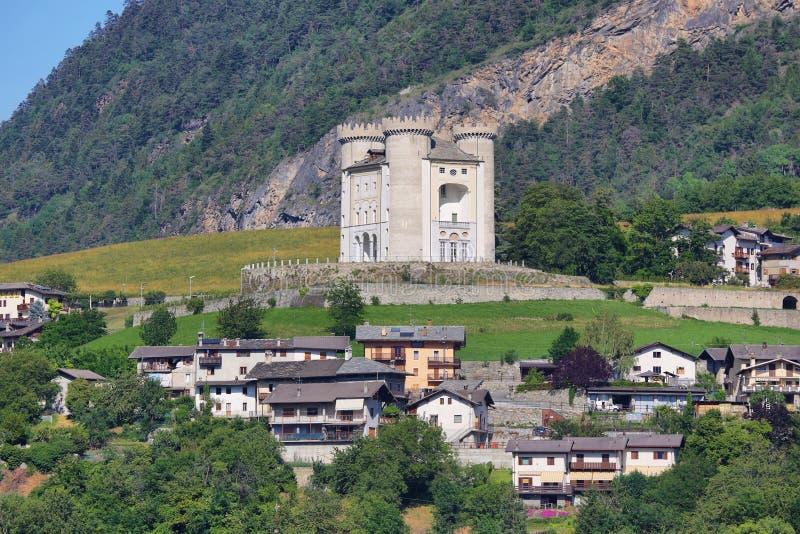 Ch?teau d'Aymavilles - la vall?e d'Aoste - Italie image libre de droits