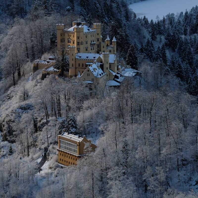 Ch?teau de Milou Hohenschwangau pendant l'hiver photos libres de droits