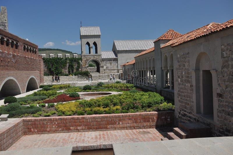 Ch?teau de Rabati en G?orgie endroit historique Un château sur la colline avec le kró?ganki et les tours images libres de droits