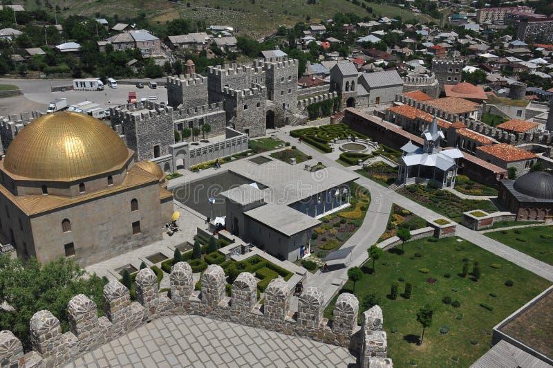 Ch?teau de Rabati en G?orgie endroit historique Un château sur la colline avec le kró?ganki et les tours image libre de droits