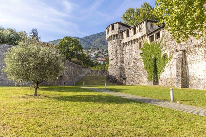 Ch?teau de Visconteo ? Locarno, Suisse photo libre de droits