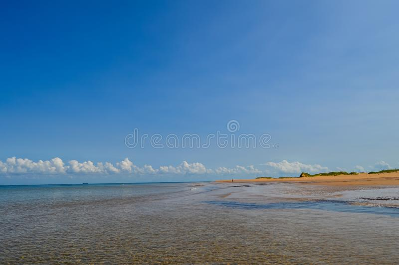 Beautiful Portuguese Island beach with turqoise water , Mozambique royalty free stock photos