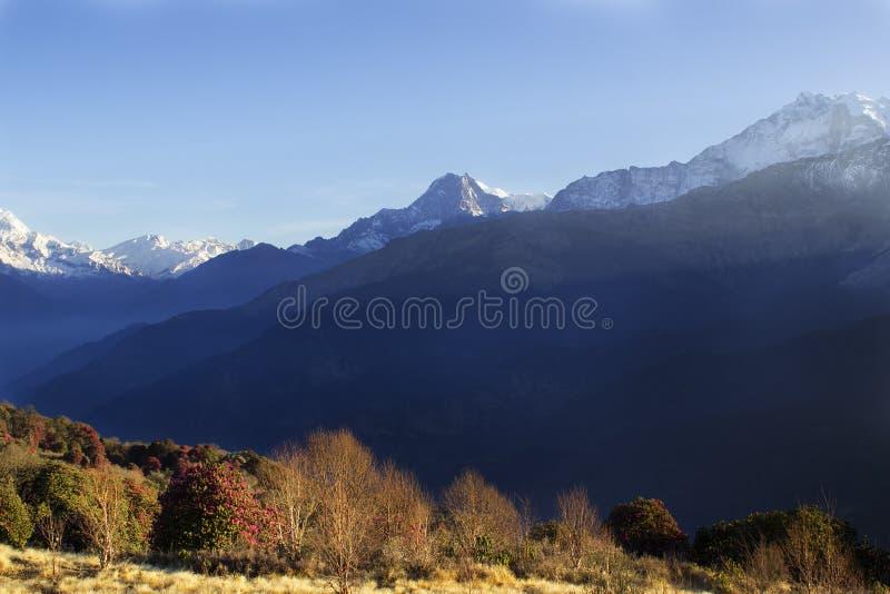 Chaîne d'Annapurna photo stock