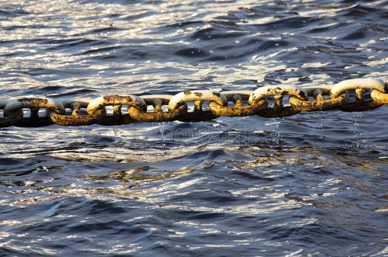 Chaîne de Marine Anchor photo stock