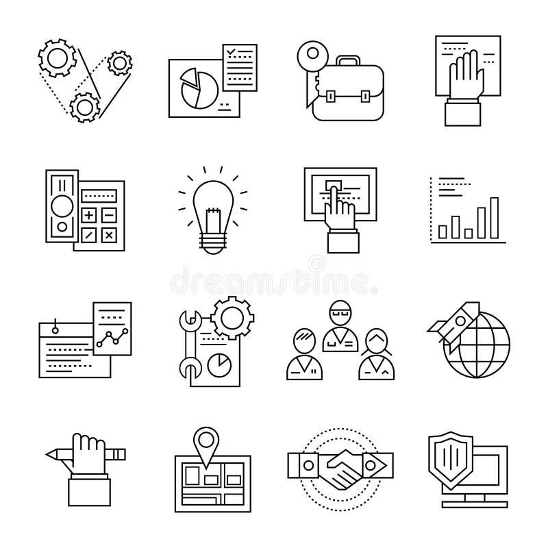 Chaîne de montage ensemble d'icône illustration libre de droits