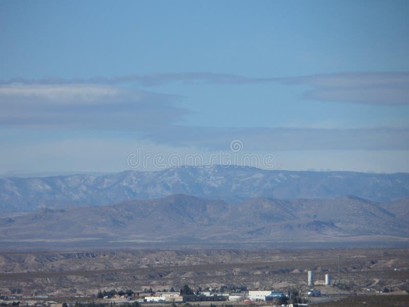 Chaîne de montagne au Nouveau Mexique images libres de droits