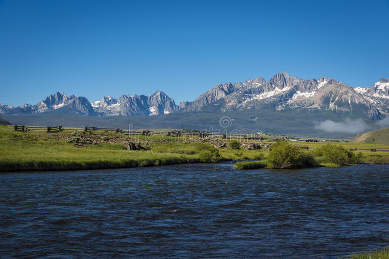 Chaîne de montagne de dent de scie, Idaho image stock