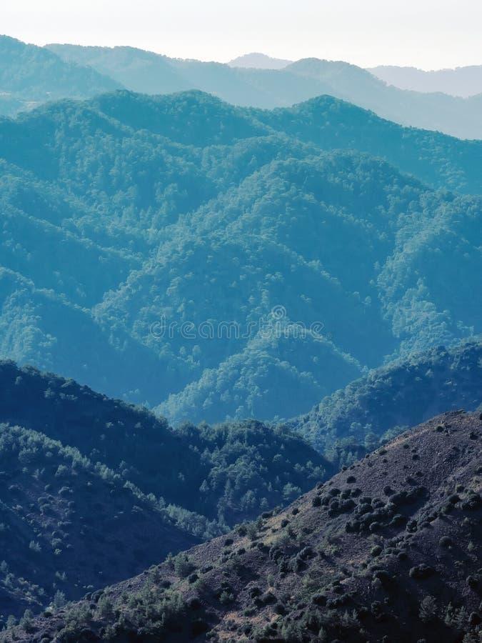Chaîne de montagne de la Chypre photographie stock