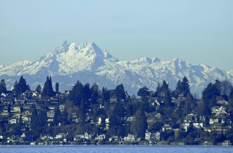 Chaîne de montagne olympique images libres de droits
