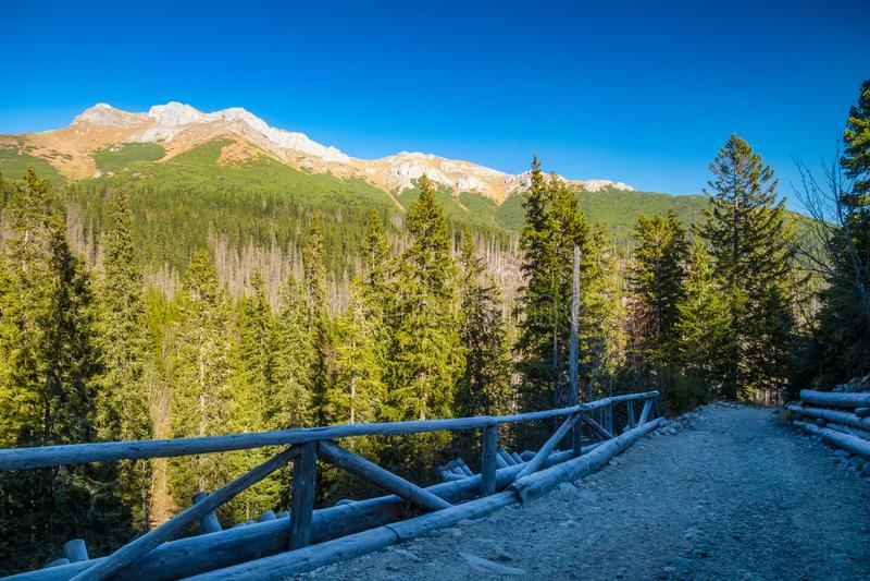 chaîne de montagnes de Belianske Tatras en automne, Slovaquie photo stock