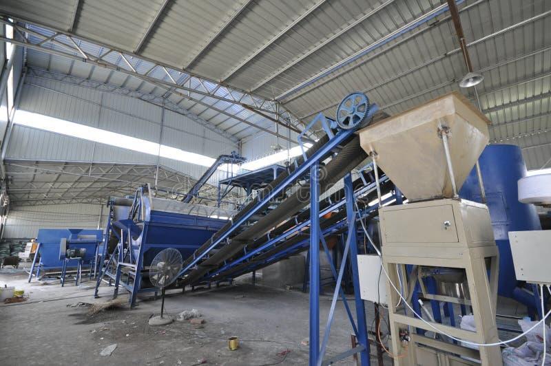 Chaîne de production d'engrais organique photo libre de droits