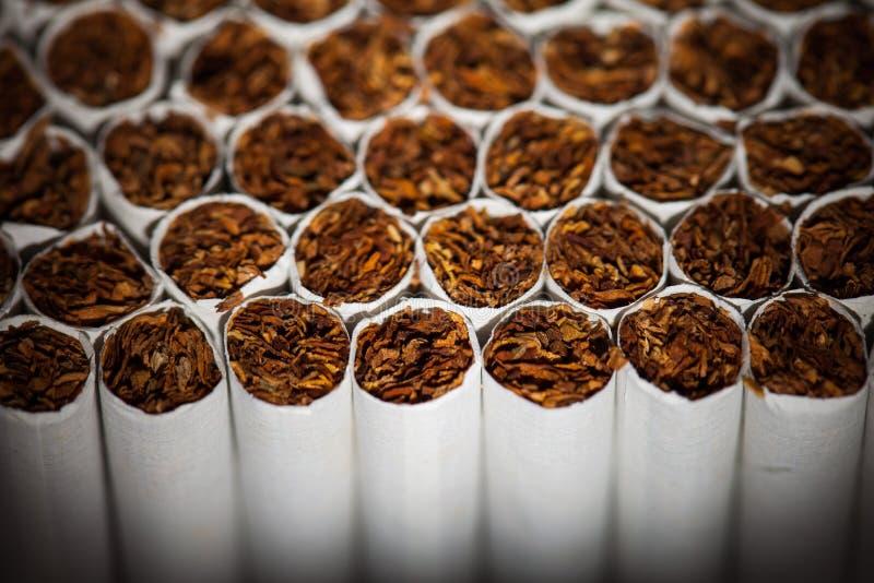 Chaîne de production de cigarettes image stock
