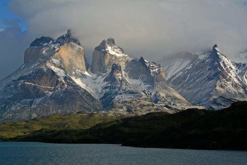 Chaîne de Torres del Paine, Patagonia photo stock