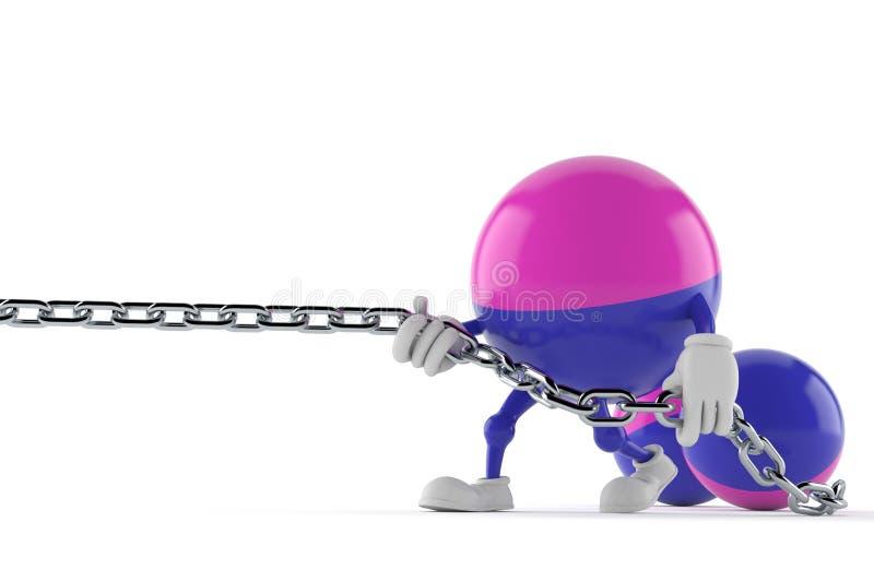 Chaîne de traction de caractère de Paintball illustration de vecteur