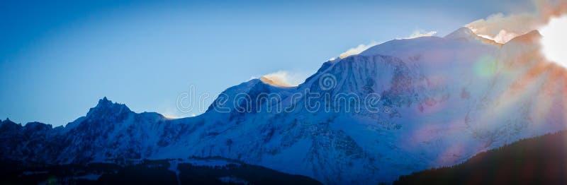 Chaîne du Mont Blanc de La images libres de droits