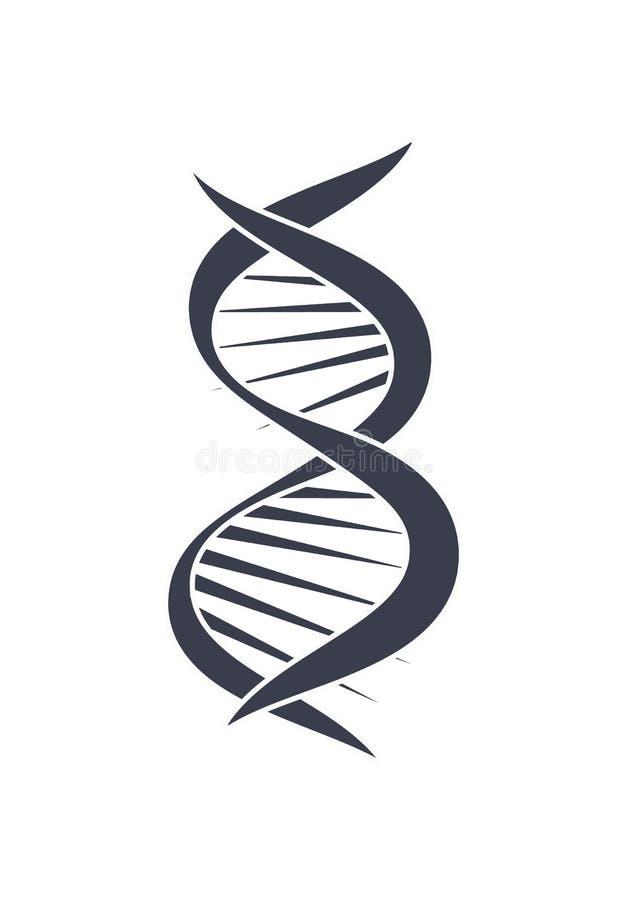 Chaîne Logo Design Icon d'acide désoxyribonucléique d'ADN illustration stock