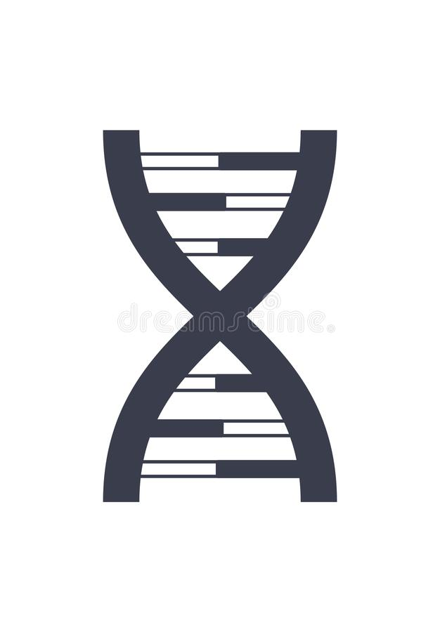 Chaîne Logo Design Icon d'acide désoxyribonucléique d'ADN illustration de vecteur